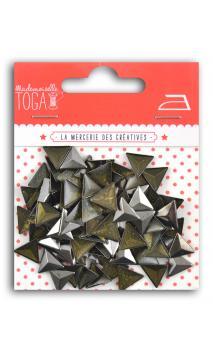 Triángulos 3D térmicos. 8mm- Antracita