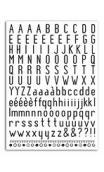 Transferibles Alfabeto negro - 1 pl