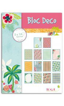 Bloc Deco 15x20 cm 28 hojas Waikiki Beach