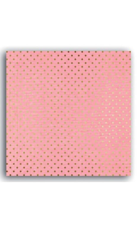 Mahé2 30x30 - rosa blush & topos oro  - Pack 10 h.