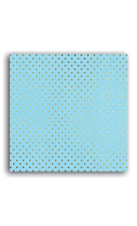 Mahé2 30x30 - azul pálido & topos oro  - Pack 10 h.