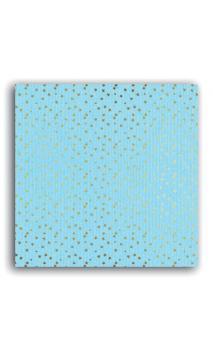 Mahé2 30x30 - azul pálido & estrellas oro  - Pack 10 h.