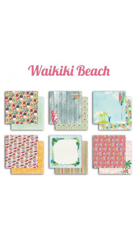 Surtido 6 papeles r/v 30x30 Wakiki Beach