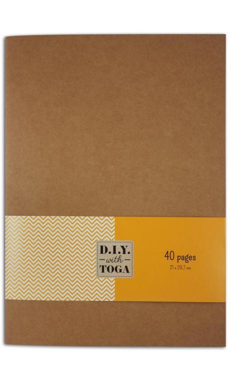 Cuaderno 21x29,7 cm con cubiertas de plástico 40 hojas