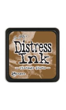 Distress ink mini vintage photo