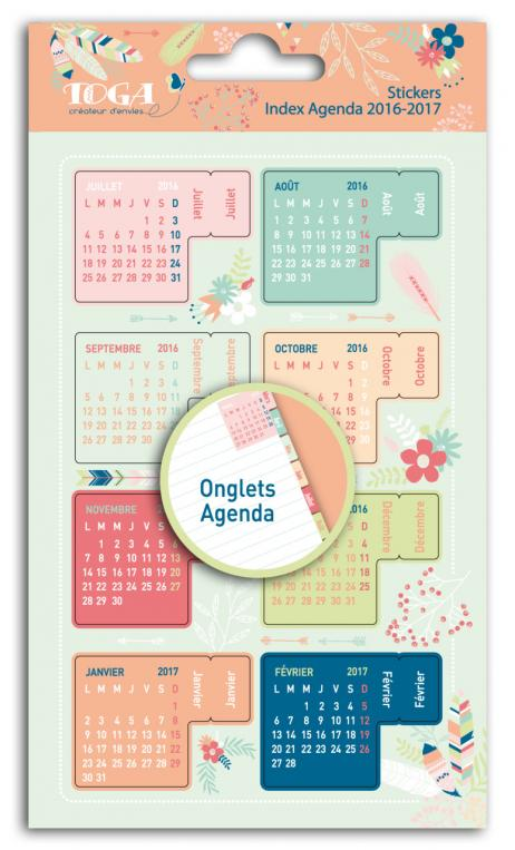 Surtido 18 stickers uñeros para agenda-plumas