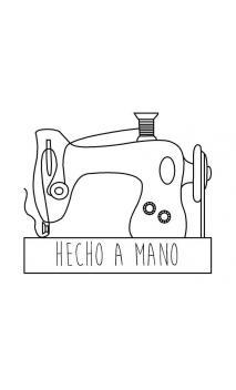 """Sello de caucho con empuñadura de madera Maquina coser """"hecho a mano"""""""