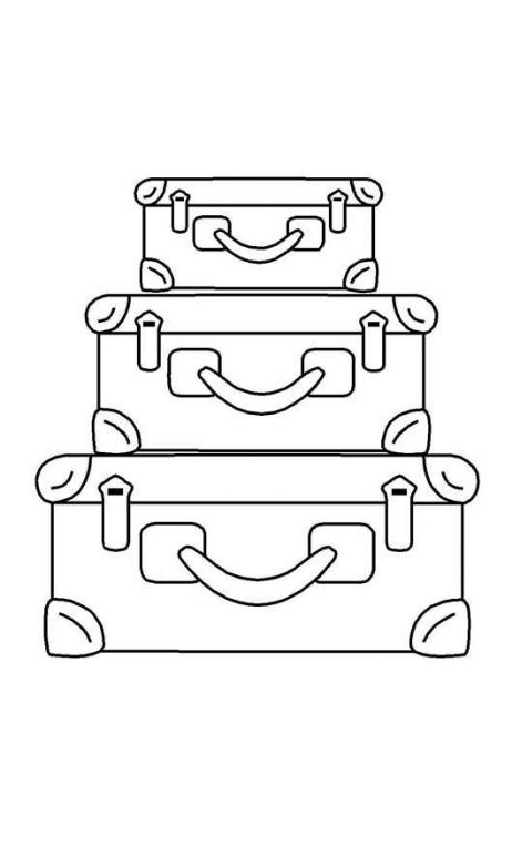 Sello de caucho con empuñadura de madera Maletas