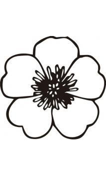 Sello de caucho con empuñadura de madera Flor
