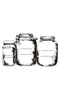 Rubber seal with wooden handle Jars kitchen