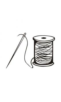 Rubber seal with wooden handle Thread Sewing