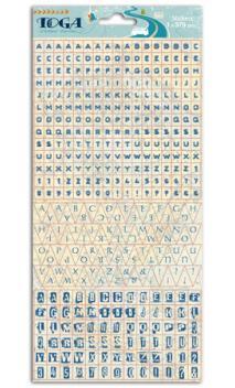 1 hoja pegatinas alfabeto