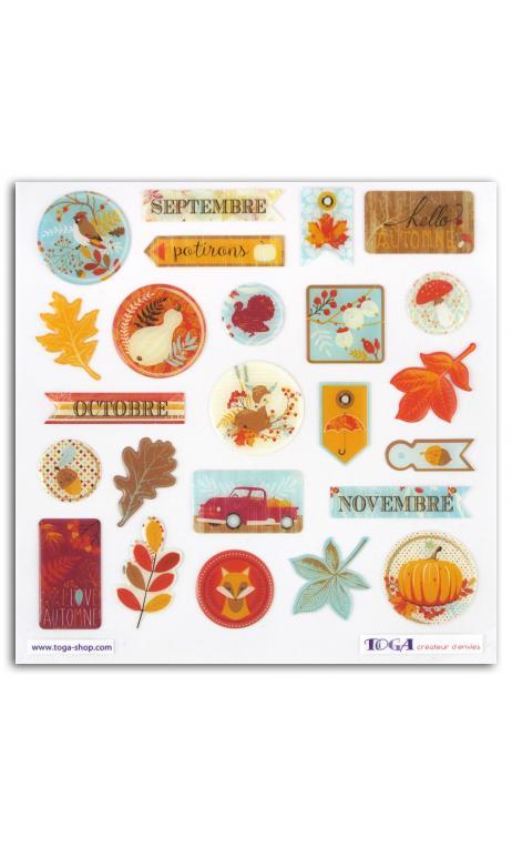Stickers epoxy  semillas de calabaza