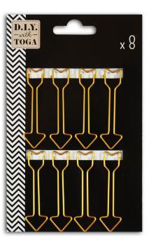 8 maxi clips flechas doradas