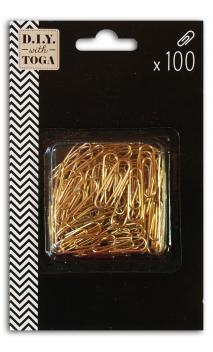 Conjunto de 100 clips dorados