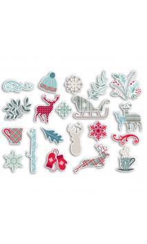 Surtido 20 chipboards solsticio de invierno
