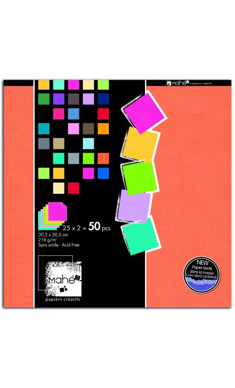 Bloc Mahe 30x30 Colores 2 x 25f