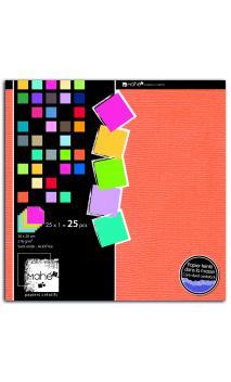 Bloc Mahe 20x20 Colores 25f
