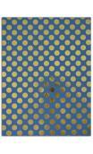 Oro de bombay-6hojasSurtido 27,8x21,6cm - blanco/azul/oro