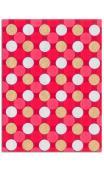 Oro de bombay-6hojasSurtido 27,8x21,6cm-rouge/coral/oro