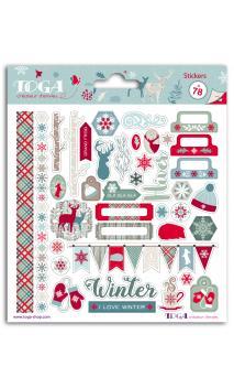 2 pl. Stickers 15x15 solsticio de invierno