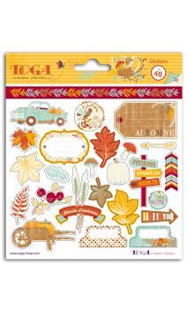2 pl. Stickers 15x15 semillas de calabaza