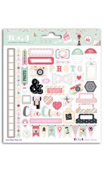 2 pl. Stickers 15x15 clic clac