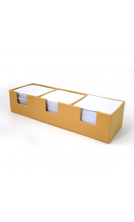 Trio Bloc notas kraft reciclado- 23,5x7,5x5cm