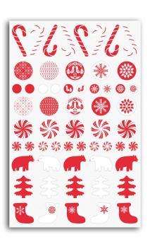 58 Adornos epoxy Navidad Nordico