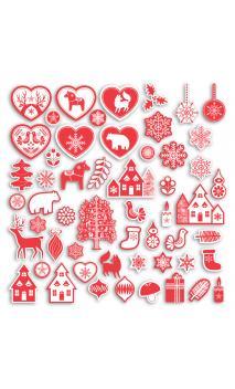 Surtido 75 formas recortadas Navidad Nordica