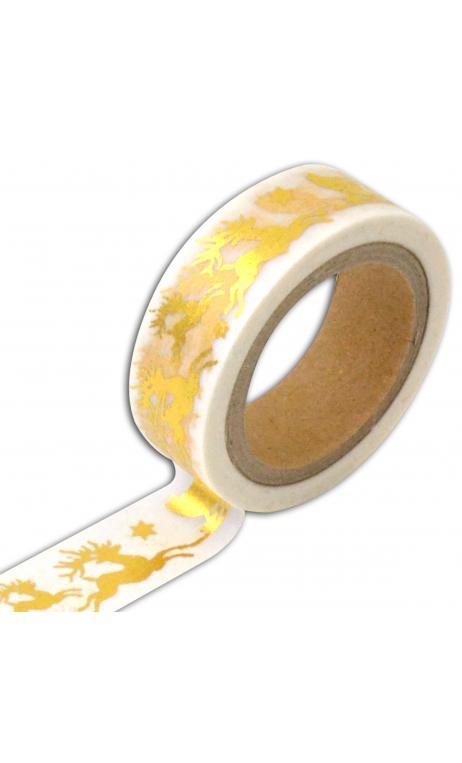 Masking tape trineo oro -10m