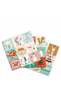 3 Hojas stickers de l'adviento 15x15 - Navidad en el bosque