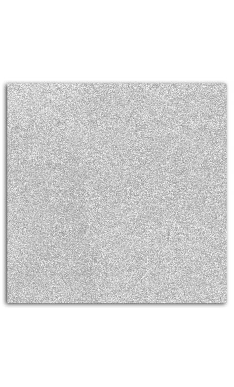 Glitter papel adh. 30x30 - plata 1hoja(s)