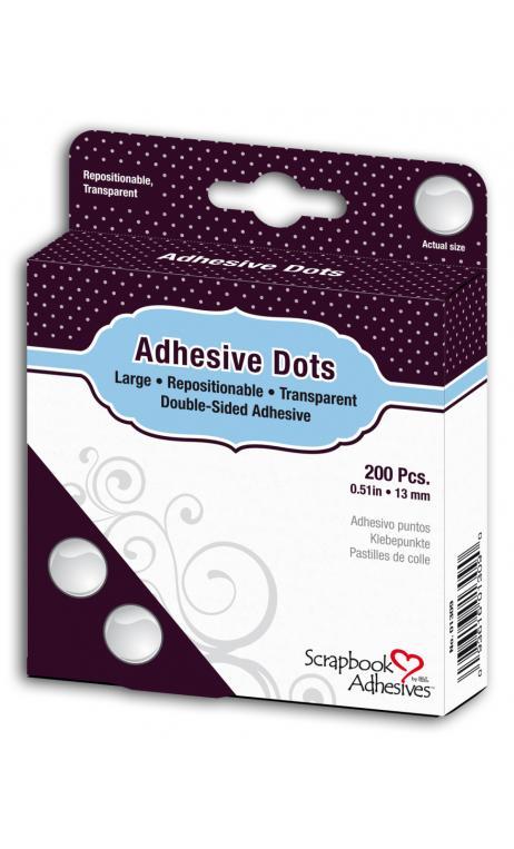 Puntos adhesivos-200 puntos reposicionables 13 mm