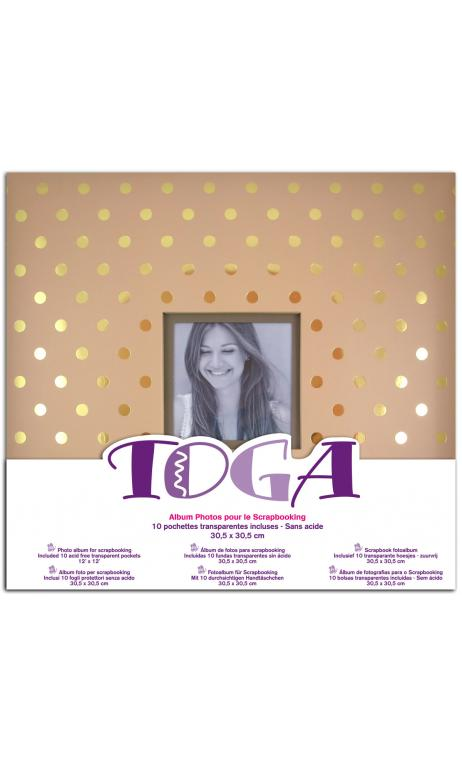 Album 30x30 kraft topos dorados