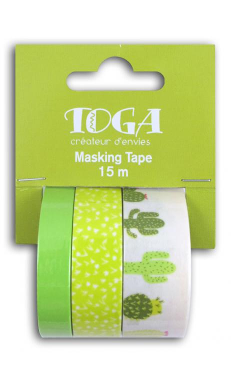 Masking tape x3 - cactus 5m