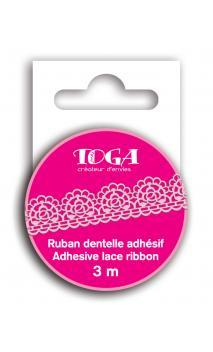 Cinta adhesiva encaje Rosa 3m