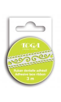 Cinta adhesiva arabesque Blanca 3m
