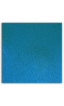 Glitter papier adh. 30x30 - Azul vivo 1 Hoja