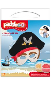 Padaboo - Kit 4 máscaras pirata