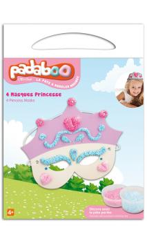 Padaboo - Kit 4 máscaras princesa