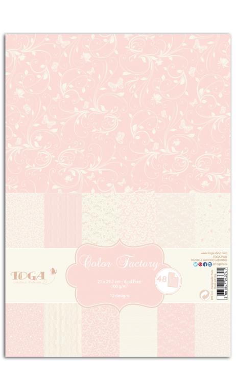 Color factory - A4 - 48 hojas romantique