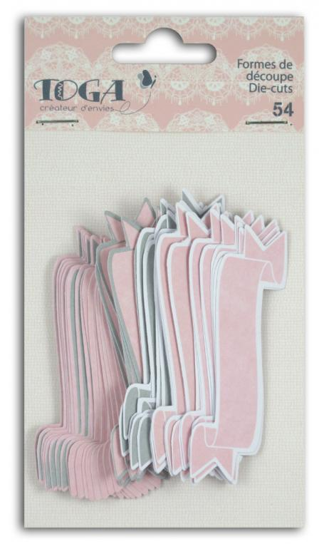 Surtido. 54 formas recortadas baner Rosa Gris