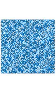 Rollos Or de Bombay 38x56 Gris Azulejos Azul