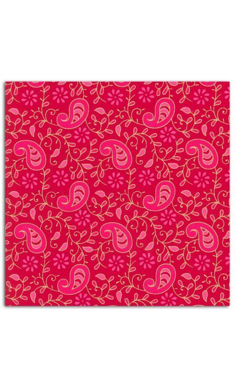 Rollos Or de Bombay 38x56 Rojo hojas