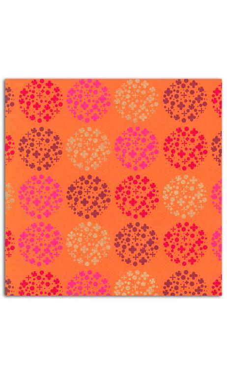Rollos Or de Bombay 38x56 Naranja topos