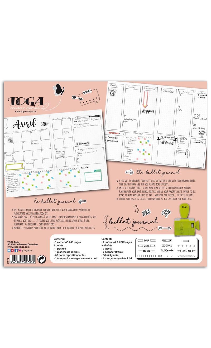kit bullet journal basiccrea