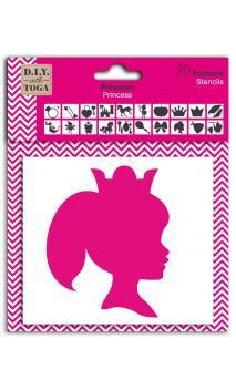 20 plantillas deco princesse 9cm
