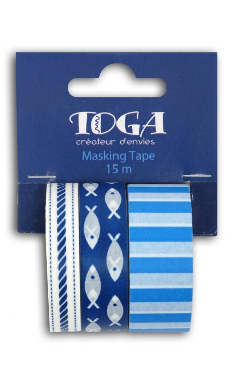 Masking tape x3 esprit marin - 5 m