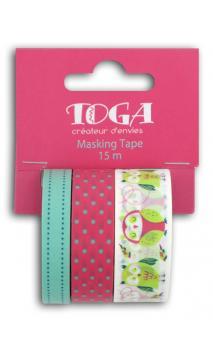 Masking tape x3-hiboux 5 m